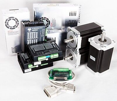 EU Free Ship 3Axis Nema34 Stepper Motor 1232oz.in 5.6A&Driver CNC kit Mill