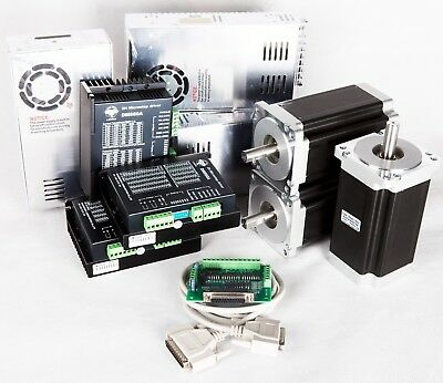 Free Ship 3Axis Nema34 Stepper Motor 1232oz.in 5.6A&Driver CNC kit Mill