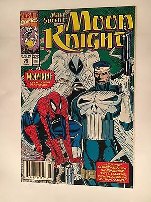 MARC SPECTOR: MOON KNIGHT #19 (1990) VF 8.0 SPIDER-MAN PUNISHER Liefeld Cover