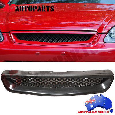 For 99-00 Honda Civic EK CX DX EX HX LX JDM Type R Front Hood Grill Grille ABS