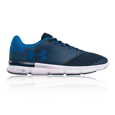 Under Armour Micro G 2 Mens Blue Cushioned Running Sports Shoes Trainers