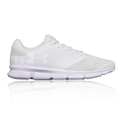 Under Armour Micro G 2 Mens White Sneakers Running Sports Shoes Trainers