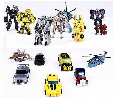7Pcs Transformation Transformer Robot and Cars Toys Christmas Kids Child Gifts
