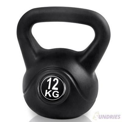 Kettlebell Weight Home Gym Fitness Strength Exercise Endurance Bodybuilding 12KG