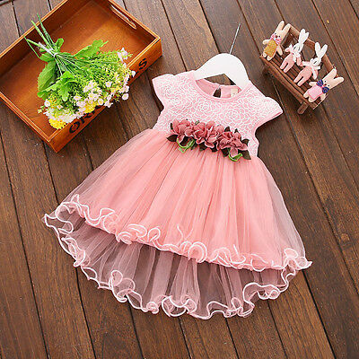 Princess Baby Flower Girl Formal Dress Christening Baptism Wedding Party Gown
