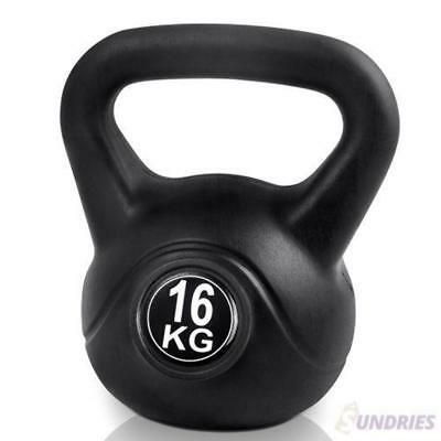 Kettlebell Weight Home Gym Fitness Strength Exercise Endurance Bodybuilding 16KG