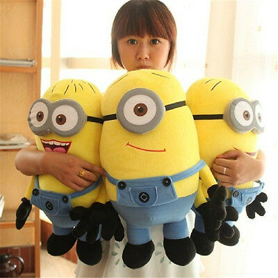 Despicable Me 3D Plush Minion Soft Toy Stuffed Cuddly Teddy Doll Soft Kids Gft