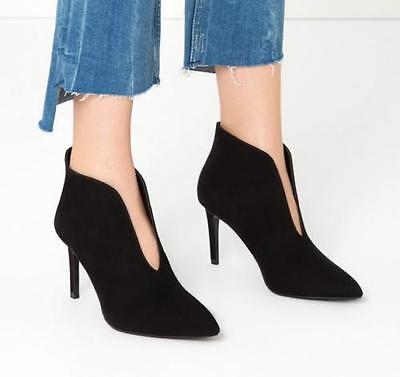 Womens Pointed Toe V Ankle Boots Stilettos High Heel Sexy Luxury Shoes Pull On