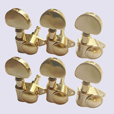 Gold-Plated Set of 6R Guitar String Machine Heads Tuning Pegs Tuners Keys