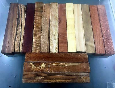 pen blanks,burl,  tasmanian woods, australian  woods, mixed pack of 15