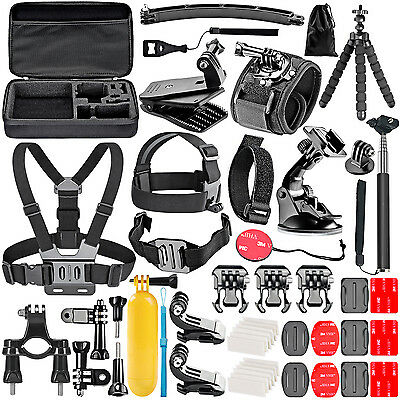 Neewer 50-In-1 Action Camera Accessory Kit for GoPro Hero Session 5 4 3+ 3 2 1