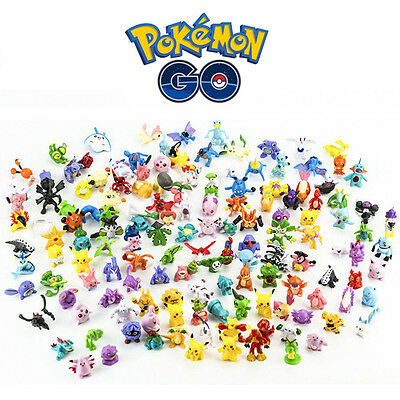 24-144pcs Pokemon Monster Mini Figure 2-3cm Action Figures in Cute Toys Random