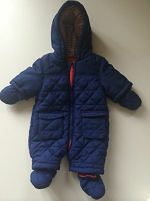 *Baby Boys Clothes/ Lovely Baby Boys Miniclub Newborn Snowsuit*