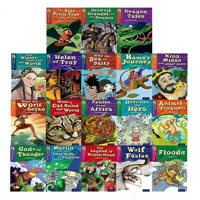Oxford Reading Tree TreeTops Myths and Legends Series 18 Books Collection Set BB