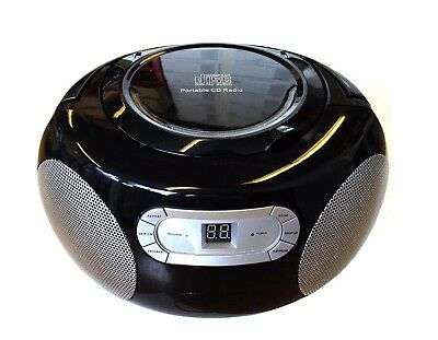 Black Portable CD Player AM/FM Radio Boombox