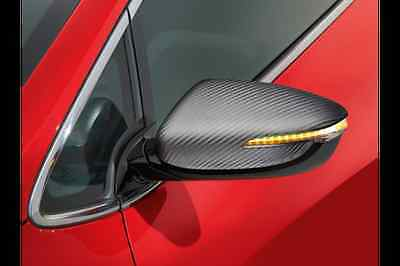 Genuine Kia Pro-Cee'd GT 2013on Door Mirror Caps Carbon Fibre EffectA2431ADE00CB