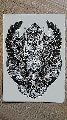 21x15cm-Sheet-High-Quality-Big-Owl-Fake-Tatto-Party-Cool-Waterproof-Temporary