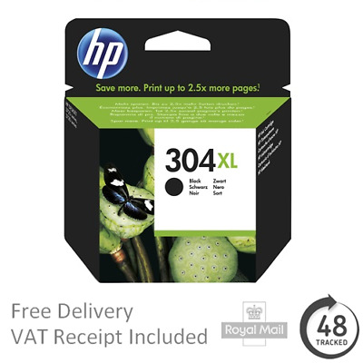 Genuine Original HP 304XL Black Ink Cartridge for HP Deskjet 3733 Printers