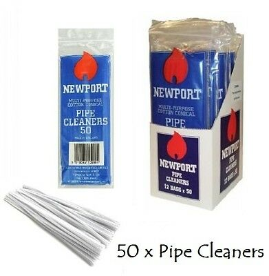 15cm NEWPORT PIPE CLEANERS Hobby Craft Art White Chenille Smoking Sticks Stems