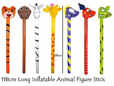 3 Inflatables Dinosaurs Sticks 118 cm Party Games Kids Child Blow Up Toy