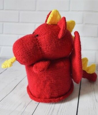 Dragon Toilet Roll Cover Knitting Pattern Instructions To Make