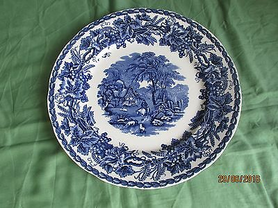 """Booths Blue and White """"British Scenery"""" Plate"""