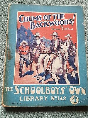 "Frank richards "" chums of the backwoods  !"" schoolboys own library number 142"