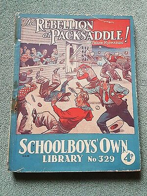 "Frank richards "" The rebellion at packsaddle !"" schoolboys own library no 329"