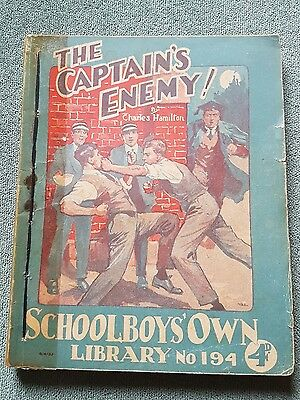 "Frank richards"" The captains enemy !"" schoolboys own library number 194"