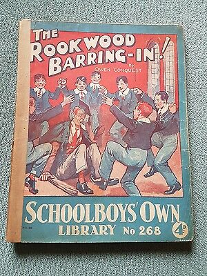 "Frank richards"" The rookwood barring-in !"" schoolboys own library number 268"
