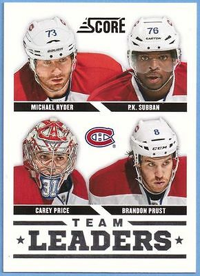 Panini Score Hockey 2013-14 NHL Karte #565 Team Leaders