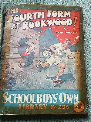 "Frank richards ""The 4th form at rookwood !"" schoolboys own library number 296"