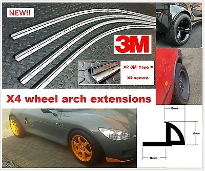 wheel arch extensions universal flare trim moulding wide body kit spoiler lip