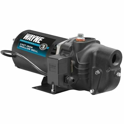 Jet Pump, Durable 1-HP Cast Iron Shallow Well Water Jet Pump W/ Pressure Switch