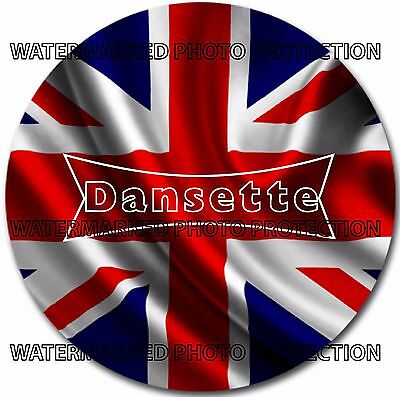 "Limited Edition DANSETTE Union Jack  7"" INCH Turntable / Platter MAT new V.RARE!"