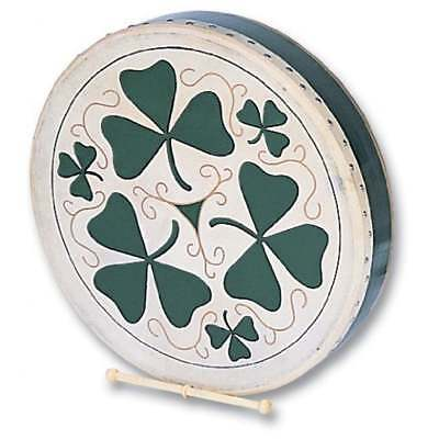 "PP Bodhran 18"" Shamrock Design - Including Tipper & Carry Bag"