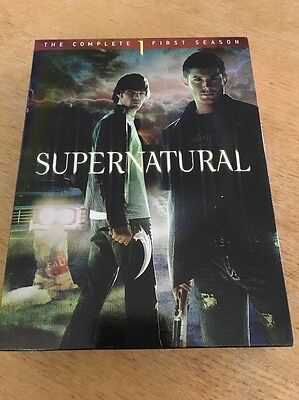 Supernatural: The Complete First Season (DVD, 2006, 6-Disc Set) FREE SHIPPING