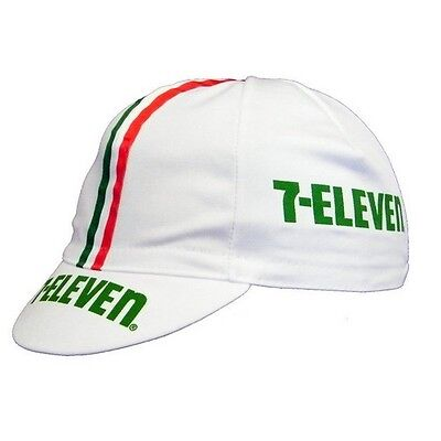 7 ELEVEN RETRO CYCLING BIKE CAP - Vintage - Fixed Gear (Andy Hampsten)