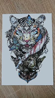 21x15cm-Sheet-High-Quality-Tiger-Head-Fake-Tatto-Party-Waterproof-Temporary-Art