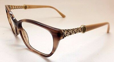 Frame Only BVLGARI 4109 5240 Brown Beige Glitters Woman Eyeglasses Italy BE12/21