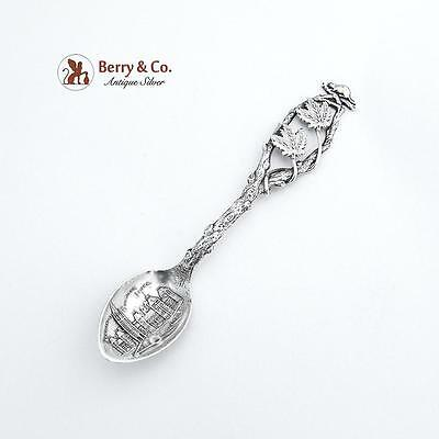 Canadian Demitasse Souvenir Spoon Parliament Buildings Ottawa Sterling Silver