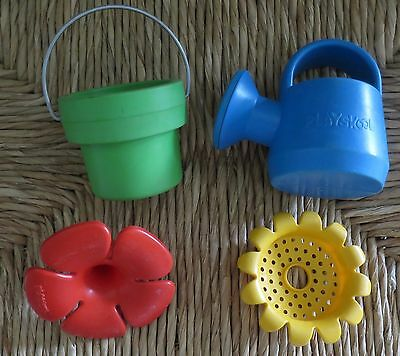 4 Piece Vintage Playskool Toddlers Toy Watering Can Beach Garden Set