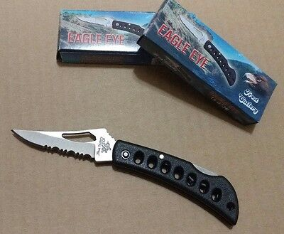 """(Lot of 2) Overall 5 1/2"""" - 3"""" closed  Frost Black Eagle Eye Knife Model 15-073B"""