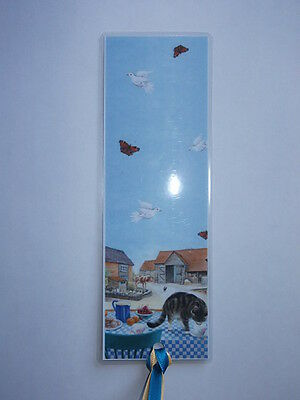 Laminated Cat Bookmark - Farmyard Cat