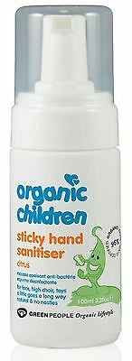 Green People Organique Enfants Main Collante Désinfectant Agrume 100ml Lot de 6