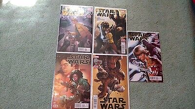 Marvel Star Wars #8-13 1st Printings Bagged and Boarded