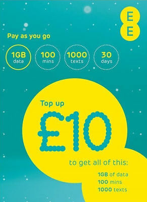 EE 4G Pay As You Go PAYG Trio SIM Standard/ Micro/ Nano Everything Pack included