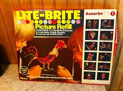 1975 Lite Brite Picture Refill - 20 Unpunched Sheets