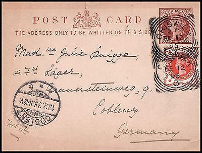 Great Britain postal card 1895, to Germany _CFR_01