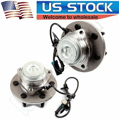 Pair Of 2New Front Wheel Hub Bearing Assembly For Chevrolet GMC Cadillac 2WD ABS